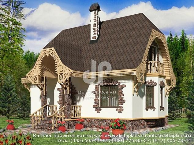 Проект узкого дома 10х6 с мансардой