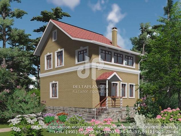 Проект 2-этажного дачного дома 9х6