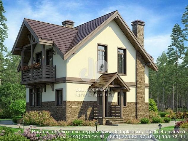 Проект маленького двухэтажного дома
