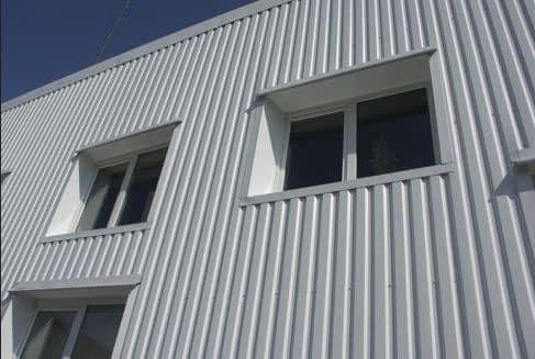 Фасад с отделкой из профлиста