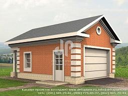 E-040-1K Проект гаража с навесом для дров